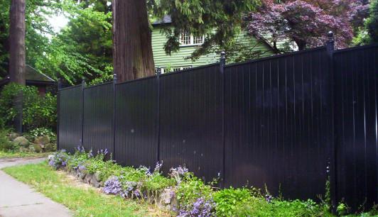 Front Yard Aluminum Black Fence Oakville Aluminum Fence
