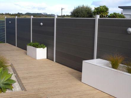 Modern Composite Back Yard Fence Toronto