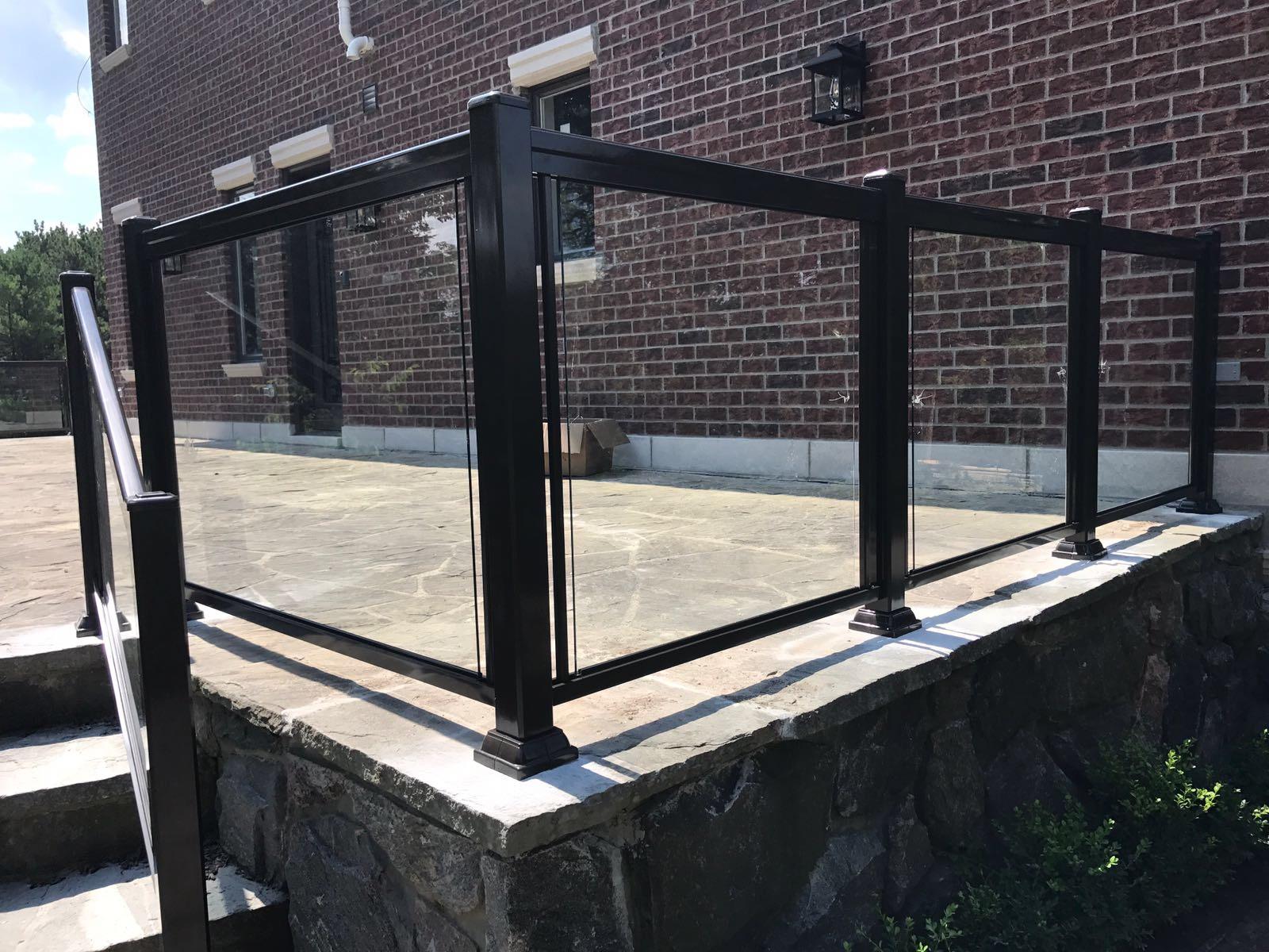 Exterior Glass Railings Toronto Aluminum Fence Toronto