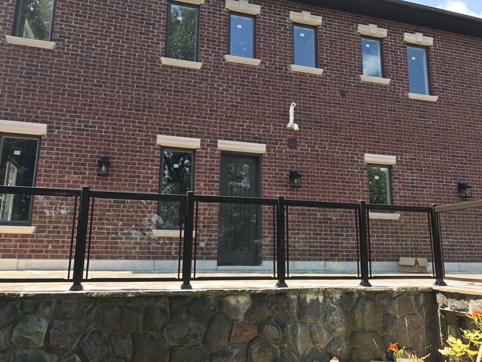 Exterior Glass Railings Oakville