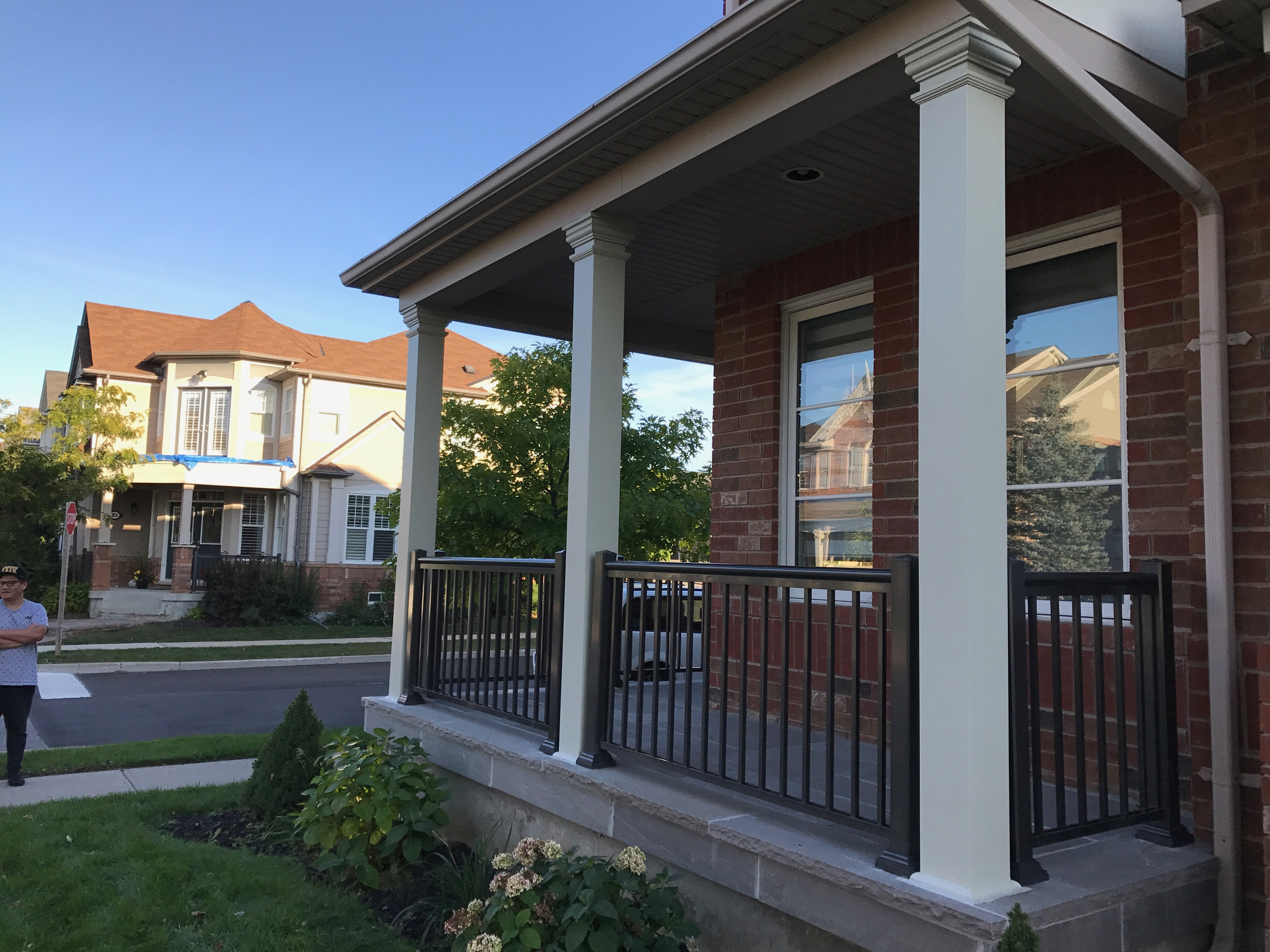 porch decking pin trex redi aluminum maple deck post columns in grove mn railing wraps rail custom stone