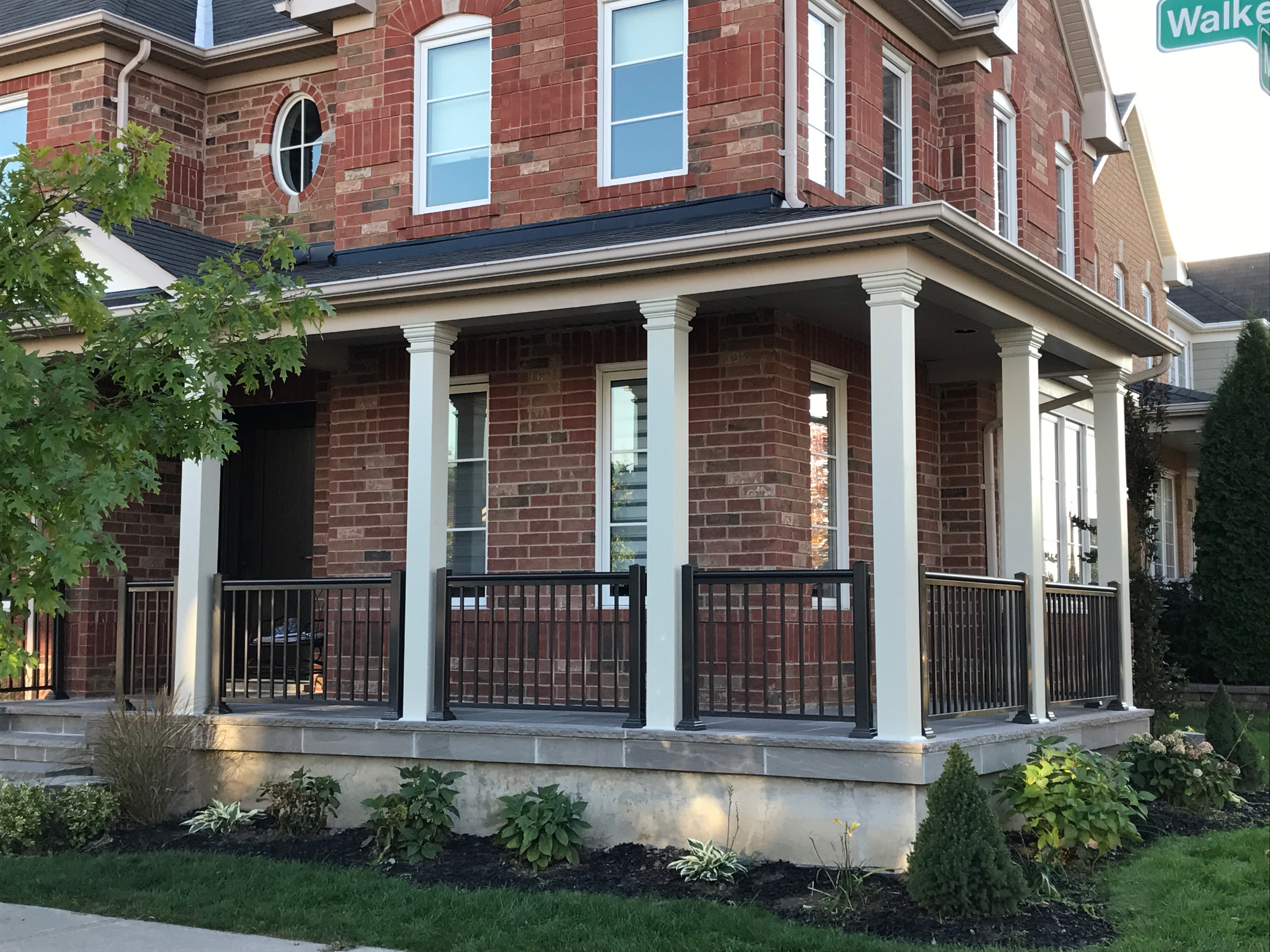columns canadian aluminum product porch railings