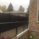 Exterior Black Aluminum Railings Etobicoke