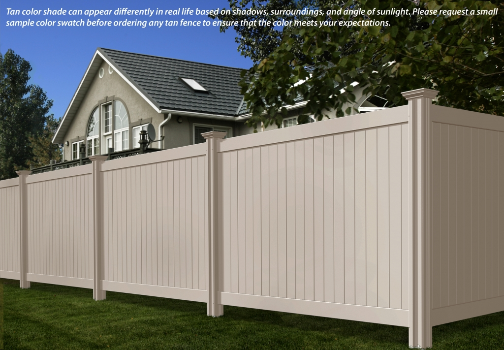 Tan Color Vinyl Fence Vaughan
