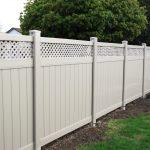 Vinyl Fence Sandalwood Installed Burlington