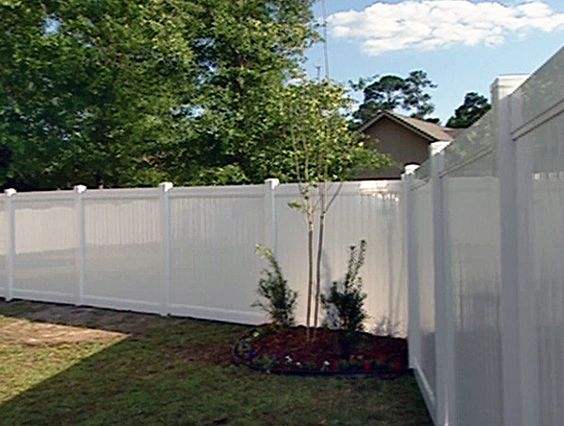 White Vinyl Fence Installed Burlington