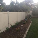 Vinyl Fence Installed Back Yard Oakville