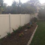 Vinyl Fence Installed Back Yard Oakville