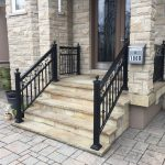 Exterior Black Aluminum Railings Vaughan