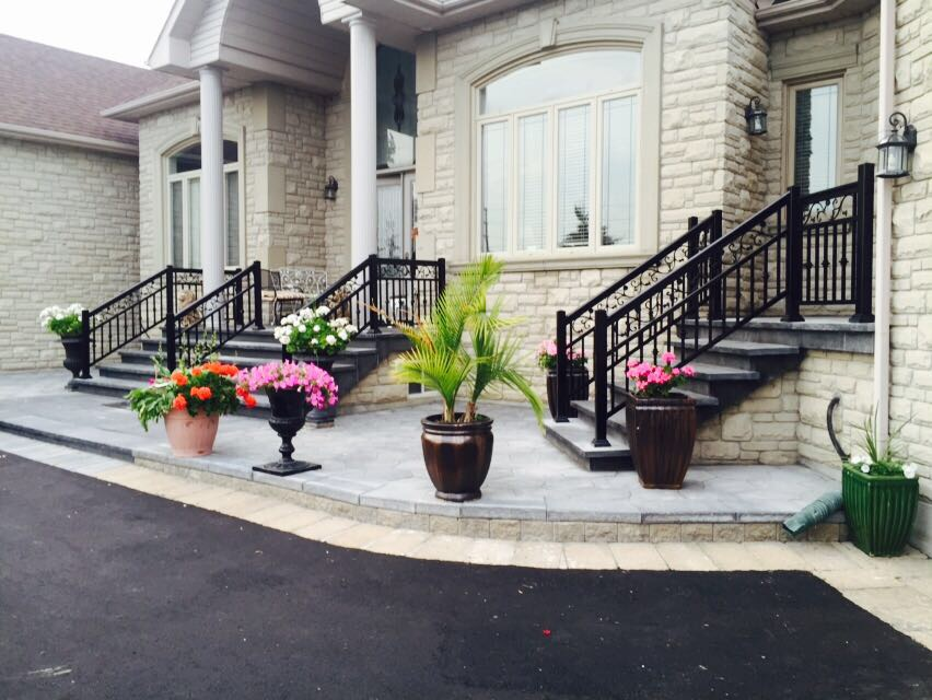 Aluminum Black Railings Installed