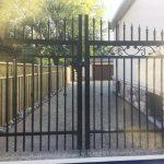 Black Aluminum Gate Installed Toronto