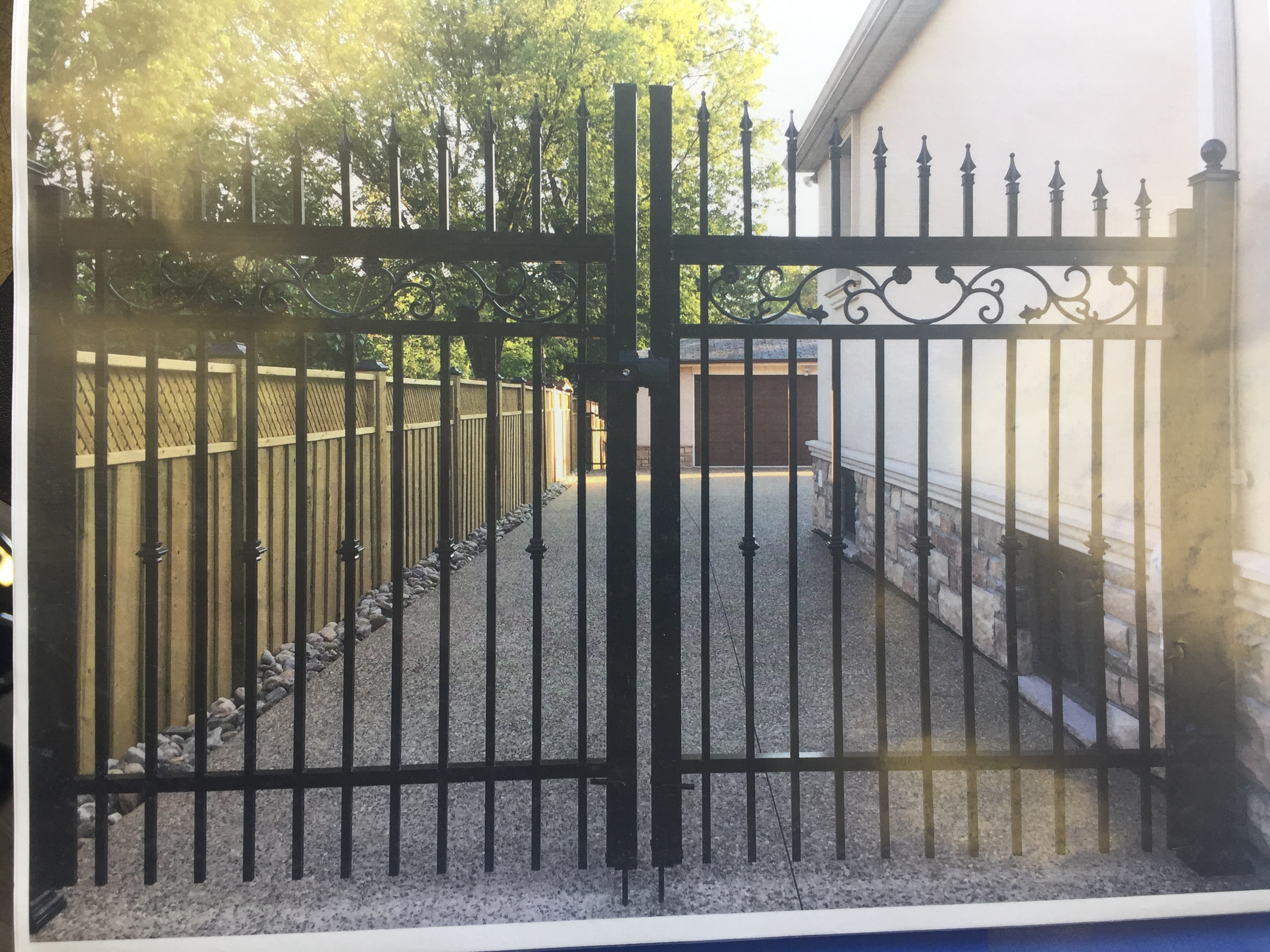 Black Aluminum Gate Installed Toronto